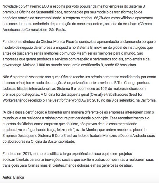 http://maringa.odiario.com/geral/2016/12/premio-eco-2016-oficina-da-sustentabilidade-e-eleita-melhor-empresa-do-sistema-b/2298092/